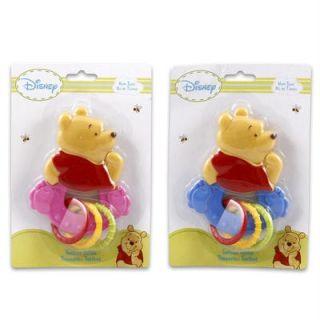 Disney Winnie The Pooh Baby Teether w Teething Rings Baby Shower