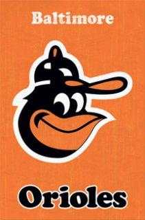 Baltimore Orioles Retro Vintage Logo SMILING BIRD (1975 76) Poster