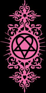 Bam Margera Heartagram Tattoo Him Pink Decal Sticker