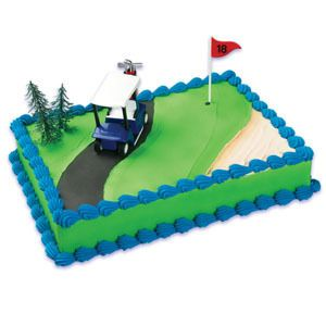 BAKERY SUPPLY GOLF CART CAKE KIT TOPPER DECORATION BIRTHDAY CUPCAKE