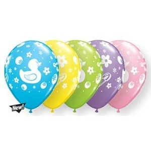 Baby Shower Balloons Unisex Boy or Girl Ducks Rubber Duckies