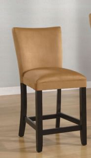Gold Microfiber Counter Height Stools/Chairs 100589YLW