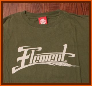 Element Skateboards & Clothing Bam Margera Wheat Logo Green Medium