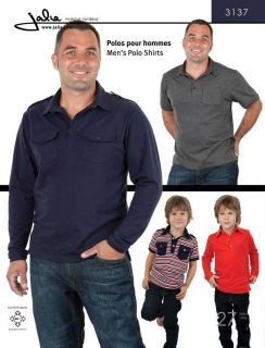 Jalie 3137 Mens & Boys Polo Shirt Sewing Pattern in 27 Sizes