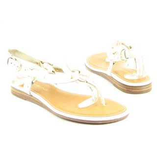 Bandolino Deba Womens Sz 5 5 White Sandals Open Toe Shoes