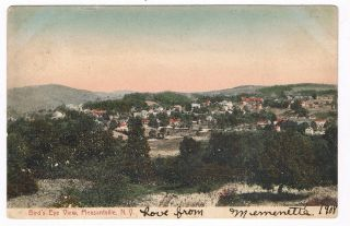 1908 Birds Eye View PLEASANTVILLE NY UDB Postcard WESTCHESTER COUNTY