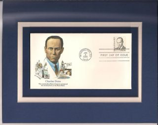 Charles Drew Blood Bank 1st Day Cover Charles R Drew Stamp