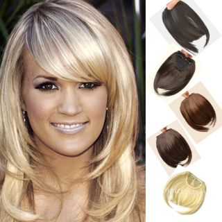 AA Hot Fashion Clip in on Bang Fringe Hair Extension Brown Black Free