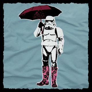 Fun Star Wars Stormtrooper Womens T Shirt Banksy s M L