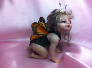 ooak polymer clay baby art doll house miniature baby fairies
