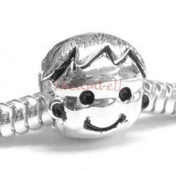 Sterling Silver Cute Baby Boy Kid European Bead Charm