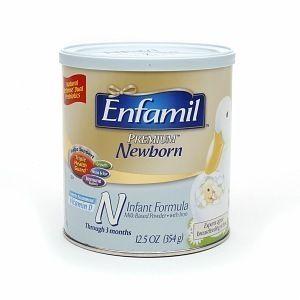 ENFAMIL PREMIUM NEWBORN Baby Formula 8 oz can milk based powder