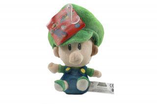 Brand New Global Holdings Super Mario Plush   5 Baby Luigi Stuffed