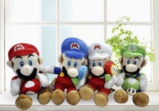 Super Mario Bros Plush Doll Toy Set 4pcs