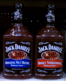 XL Jack Daniels Barbecue Sauce 40 oz Original No 7 Recipe or Honey