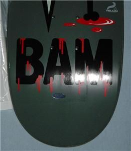 Bam Margera Signed Element Skateboard Jackass 3D Star