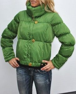 New Womens Authentic Baby Phat Jacket Coat Green Gold Large L