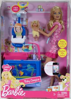 BARBIE I CAN BE. BABY CAREGIVER Playset Doll Mattel babysitter sitter