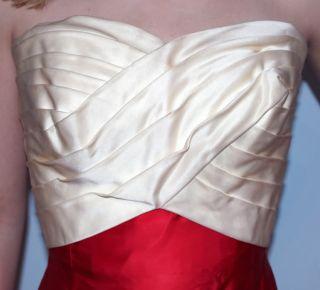 Helena Barbieri Vintage 1950s red satin formal dress