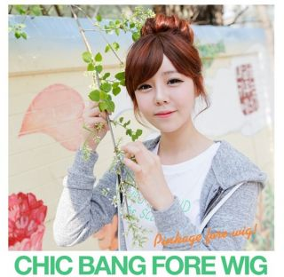 Clip in on Bangs Hairpieces Hair Extensions Side Long Fashion Stylish