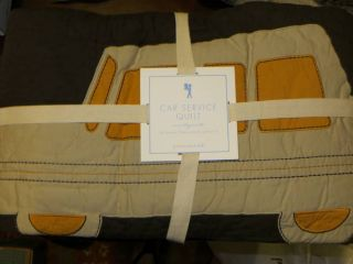 New~Pottery Barn Kids Car Service Full/Queen Quilt and Shams
