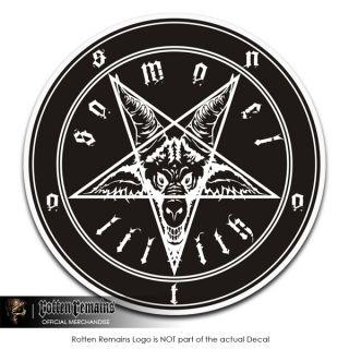 Baphomet 3 Pentagram Occult Vinyl Bumper Decal Sticker