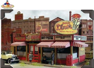 Bar Mills 302 HO Scale Sweaty Bettys Diner Kit New in Box