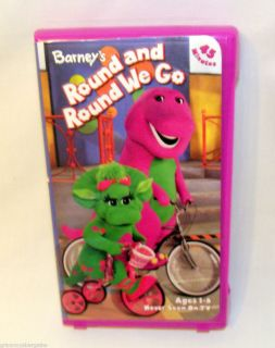 Barneys Round and Round We Go VHS Barney Friends Learn About
