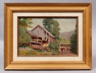 Frank Barney American Impressionist Listed New York Landscape Signed