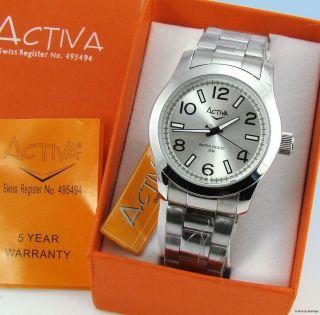 Activa by Invicta Silver Tone Bracelet Quartz Watch SF441