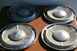 Vintage Set of 4 1963 Chevrolet Chevy II 13 HUBCAP wheel cover Chrome