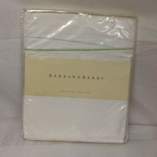 Barbara Barry King Springtime White Leaf Sham Set