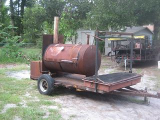 BBQ Smoker Trailer Reverse Flow Smoker with A Second Open Pit Grill