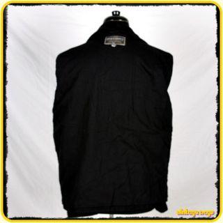 Steve Barrys Wool Jacket Coat Mens Size M Medium Black Zippered