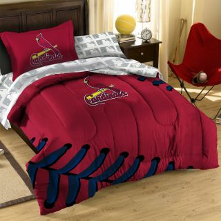Cardinals Baseball Twin Bed in Bag MLB Laces Comforter Set
