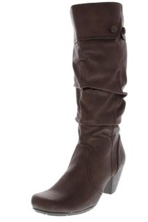 Bare Traps New Trixy Brown Slouchy Heels Knee High Boots 10 BHFO
