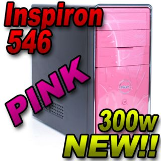 New Dell Inspiron 546 Pink Barebone Case PC Chassis Power Supply