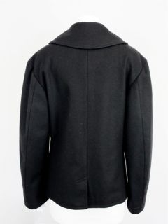 Balenciaga Black Wool Peacoat Coat Sz 40 at Socialite Auctions 103 16