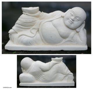 BUDDHA Statue~Sandstone Sculpture~Bali Art NOVICA