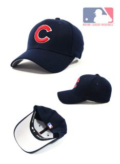 CC02 Dark Blue Chicago Cups Baseball Cap Red Logo One Size Fits Most