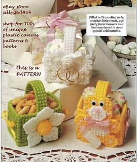 Party Favor Baskets Plastic Canvas Pattern OOP