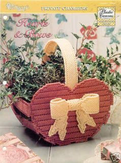 Hearts Bows Basket Plastic Canvas Pattern