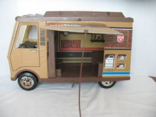 vintage Mattel Big Jim Sports Camper with loads of accessories