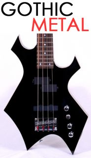 New Gothic Black Metal Hard Rock Electric Bass Guitar