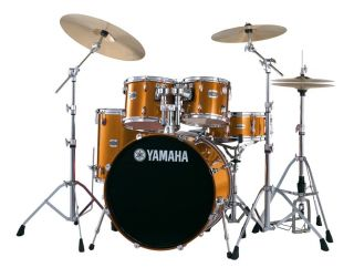Stage Custom Birch 5pc Gold Metallic with Free Second Bass Drum