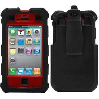 Ballistic HC 4 Layers Case w/Belt Clip for iPhone 4/4S Black/Red