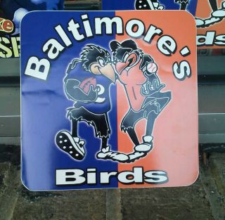 Baltimore Ravens Baltimore Orioles Bad Birds Sticker New