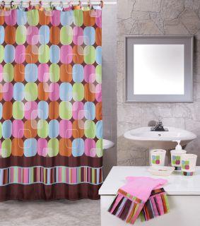 Modern 19 Piece Bathroom Accessories Shower Contemporary Curtains