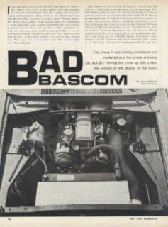 CHEVROLET CHEVY II NOVA SS BAD BASCOM BILL THOMAS RACE CARS ARTICLE
