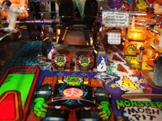 Monster Bash Pinball Machine Target Decal Set